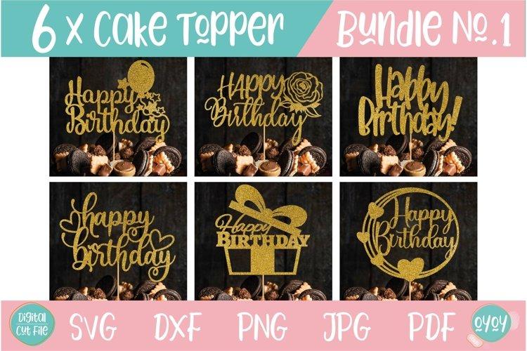 Cake Topper Bundle SVG | Happy Birthday SVG Bundle