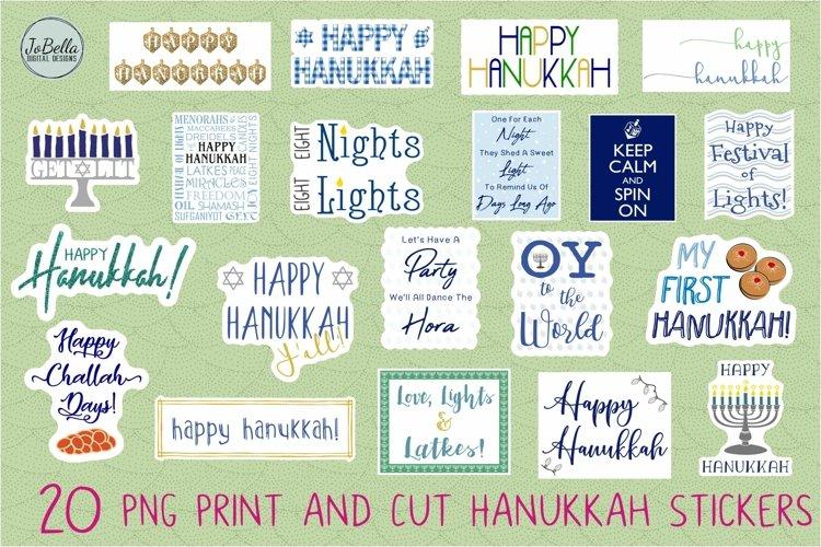 Hanukkah Stickers Bundle of 20 example image 1