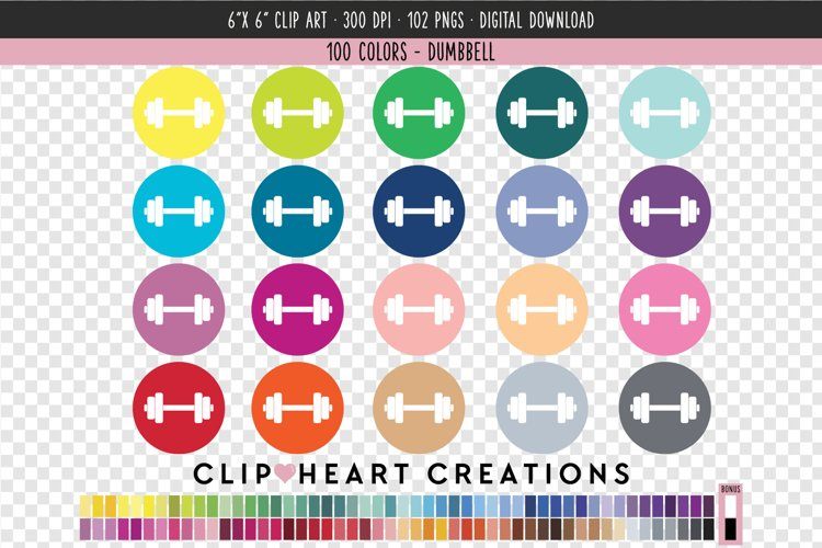 Dumbbell Icon Clip Art - 100 Clip Art Graphics example image 1