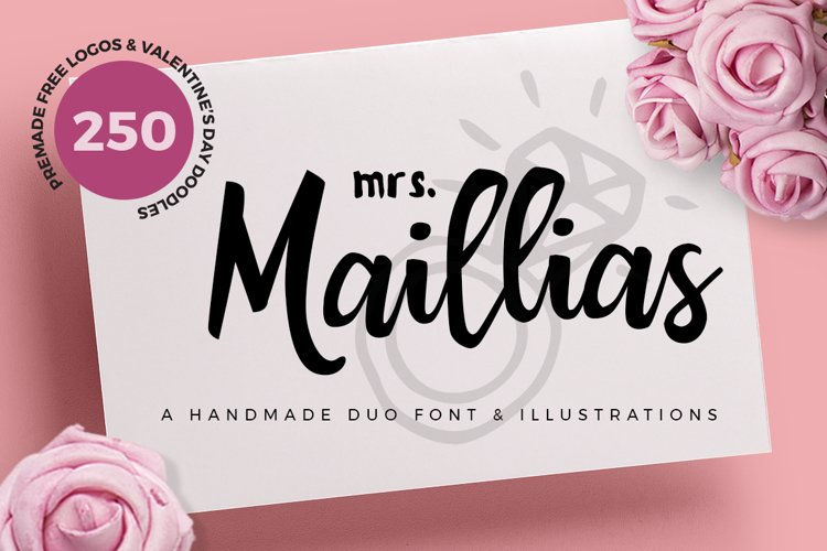 Mrs Maillias Duo Font & Doodles