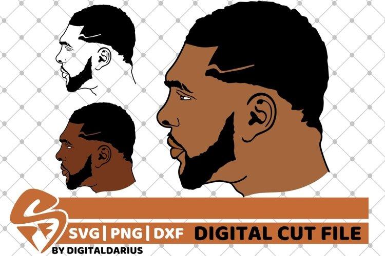 3x Black Man with beard svg, Afro man svg, Natural Hair svg example image 1
