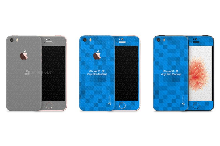 iPhone 5s/SE PSD Skin Mockup Template example image 1