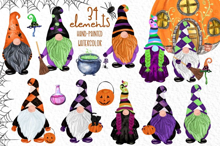 Gnomes clipart Thanksgiving clipart Halloween Kids clipart example image 1