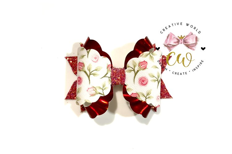 New 2021 Hair Bow Digital Template | Bow Template |CWC166 example image 1