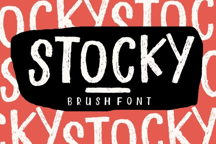 STOCKY FONT example image 1
