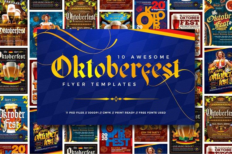 10 Oktoberfest Flyers Bundle