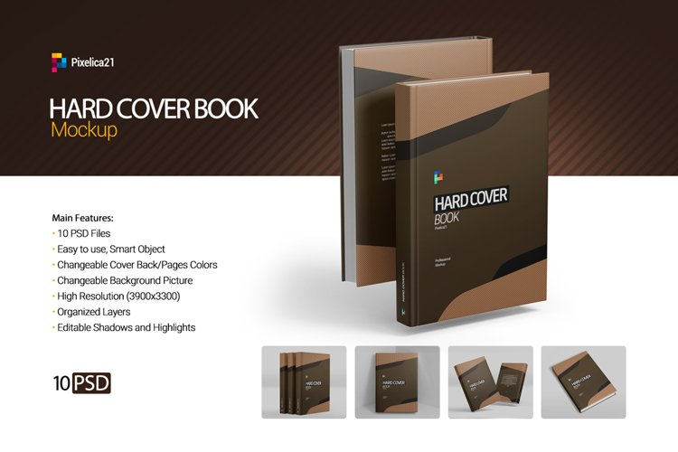 Hard Cover Book Mockup example image 1