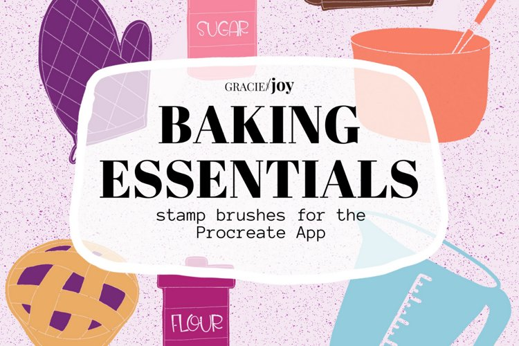 Baking Essentials Stamp Brushes for Procreate example image 1