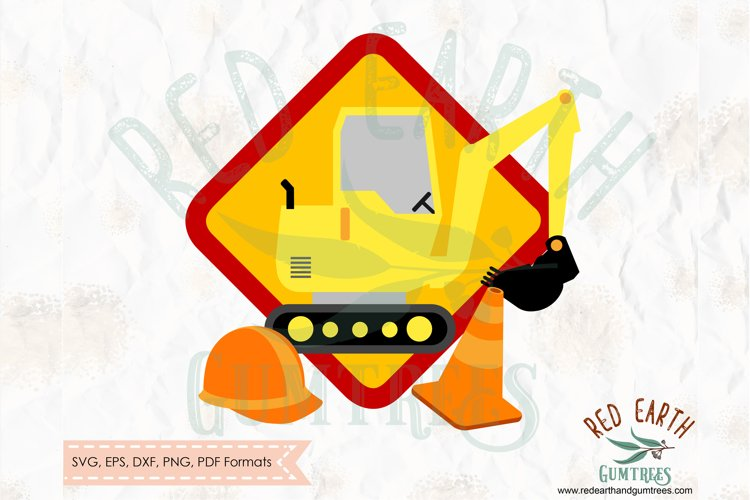 Construction theme digger truck in SVG,DXF,PNG,EPS,PDF