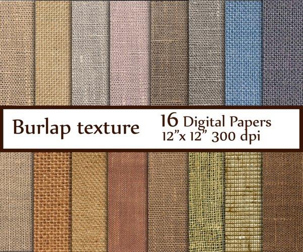 Burlap digital paper example image 1