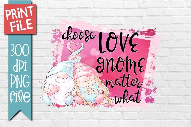 Gnome Valentine Sublimation Design example image 1