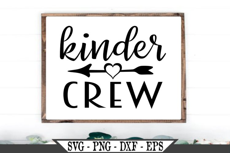 Funny Kinder Crew SVG example image 1