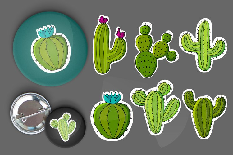 Cacti, aloe, succulents in a creative collection example image 1