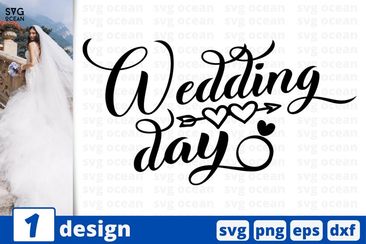 WEDDING DAY SVG CUT FILE | Bride cricut | Groom quote example image 1