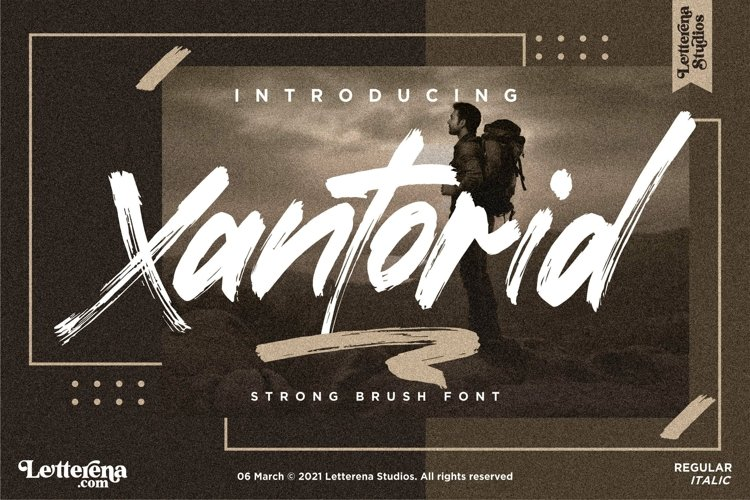 Xantorid - Premium Brush Font example image 1