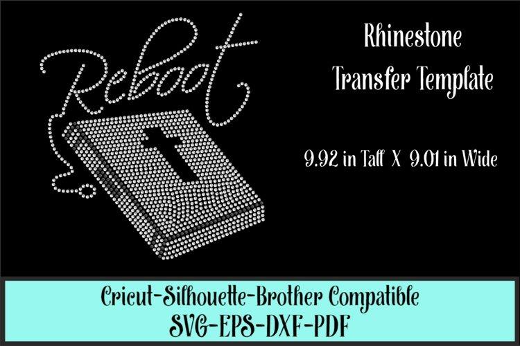 Reboot - Faith - Bible Rhinestone SVG Template example image 1