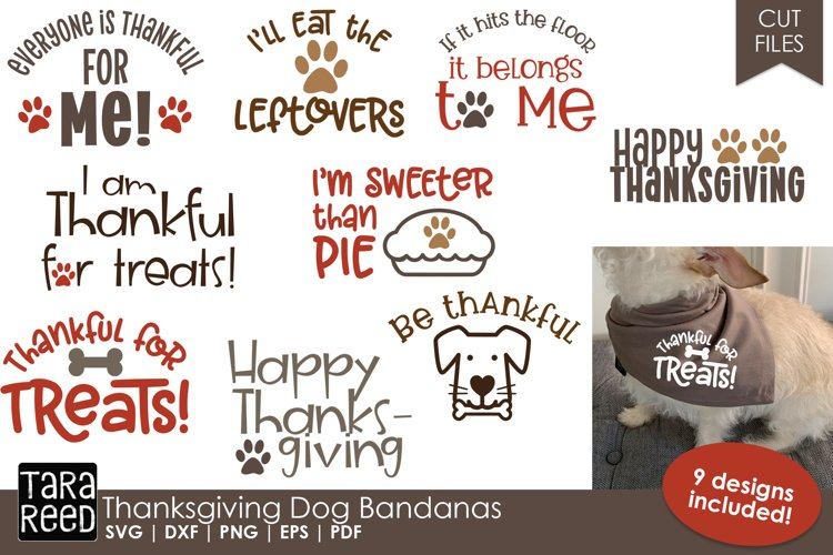 Thanksgiving Dog Bandanas - SVG & Cut Files for Crafters