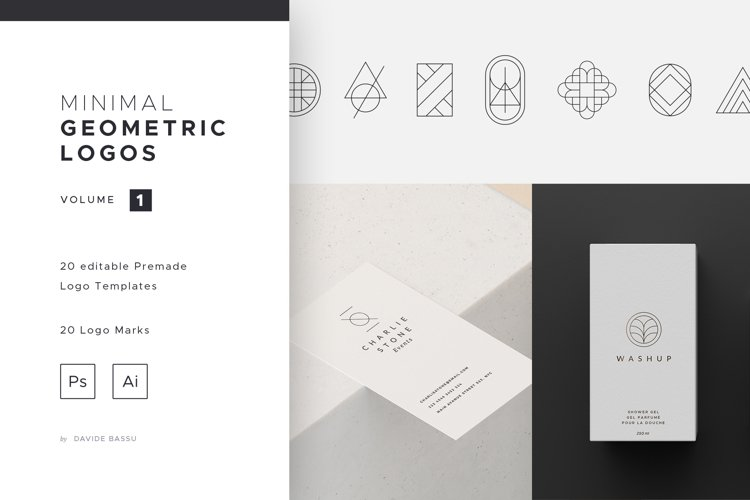 Minimal Geometric Logos - Volume 1