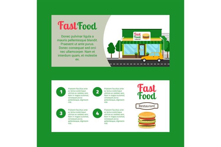 Fast food restaurant horizontal flyers example image 1