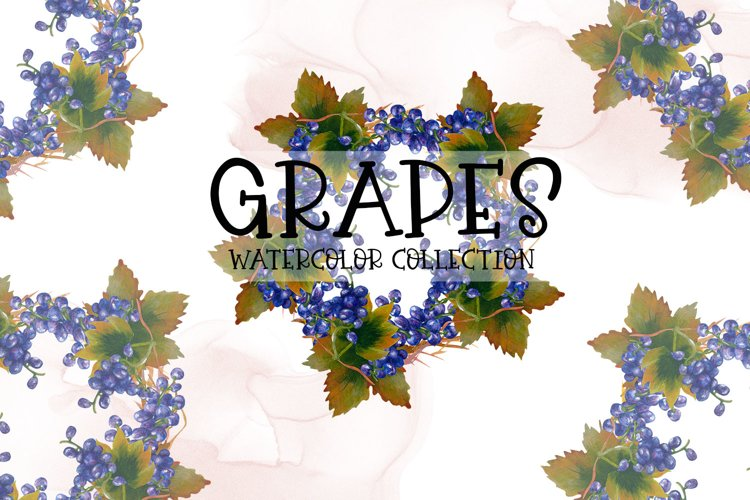 Grapes Watercolor Collection example image 1
