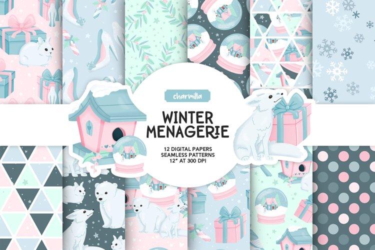 Winter Animals Digital Papers