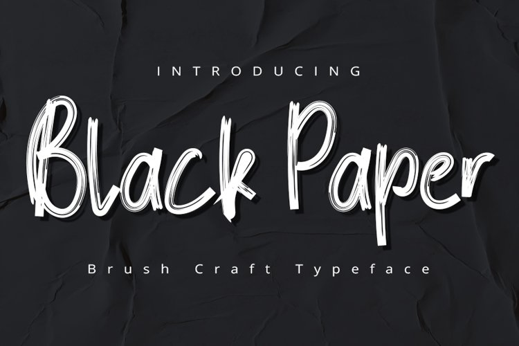 BlackPaper | Modern Typeface Font example image 1