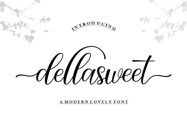 Dellasweet Script example image 1