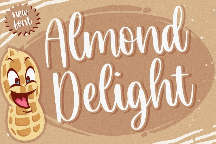 Almond Delight Modern Handwritten Font example image 1