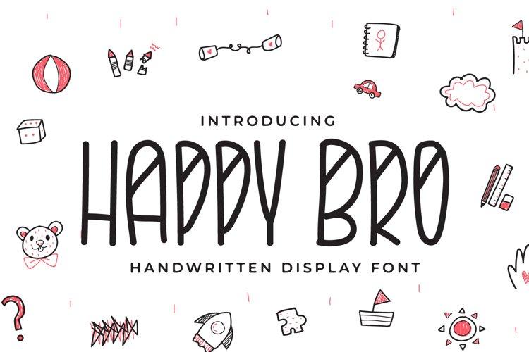 Happy Bro - Handwritten Display Font example image 1