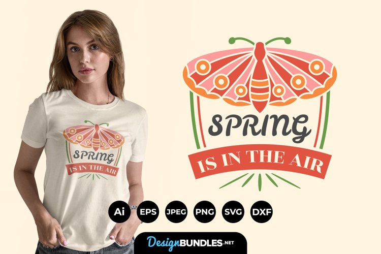 Spring is In The Air Hand Lettering SVG example image 1