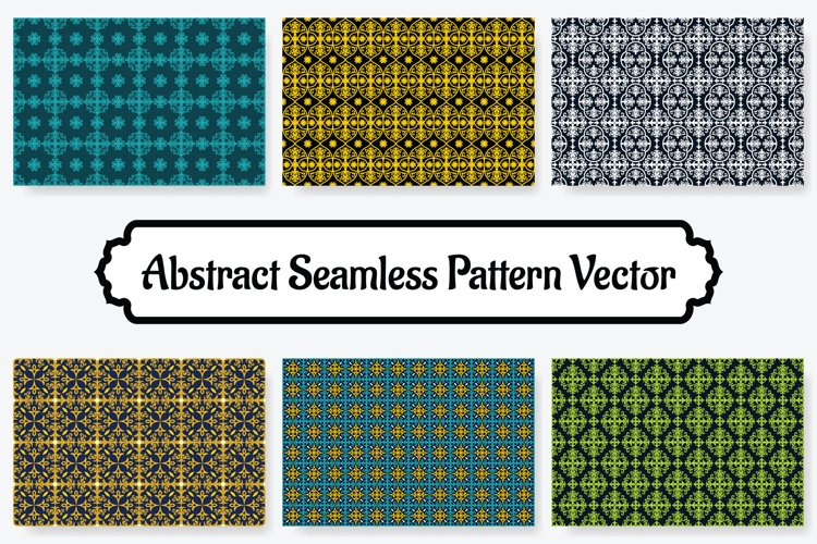 6 Collection Of Abstract Seamless Pattern Vol.8 example image 1