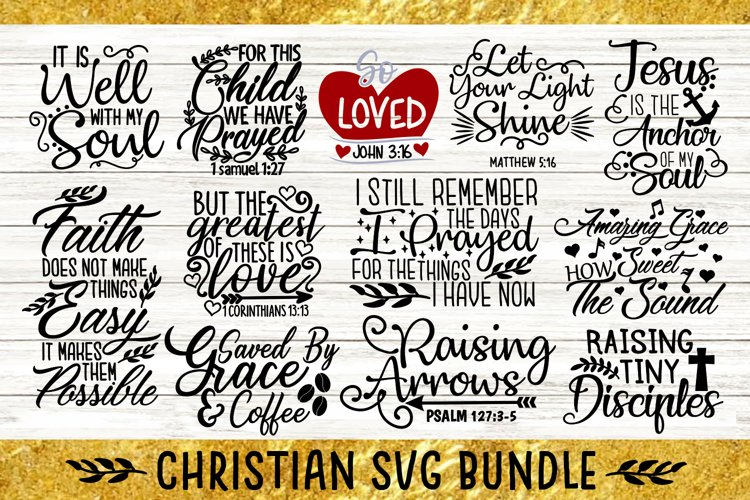 Christian Svg Bundle, Bible Svg Bundle, Religious Svg Bundle example image 1