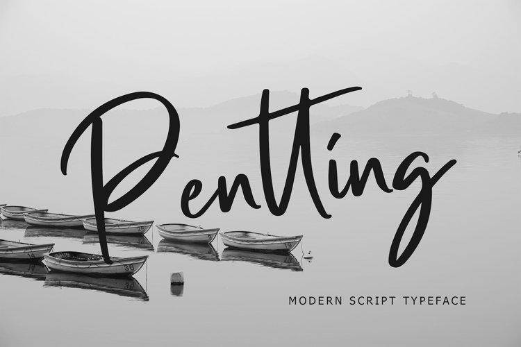 Pentting Modern Script Font example image 1
