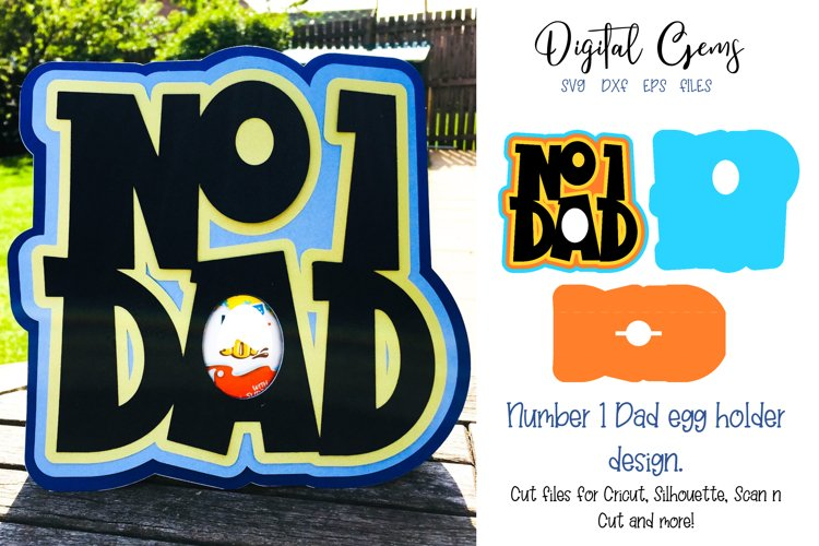 Number one Dad, Fathers day egg holder design example image 1