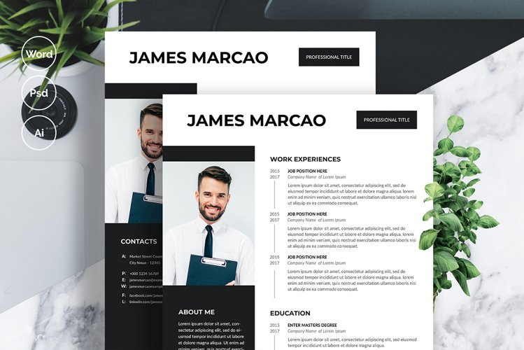 Modern Resume/cv Template example image 1