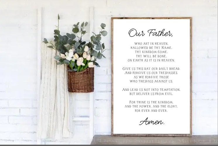 Our Father, Scripture Cut Files, The Lords Prayer