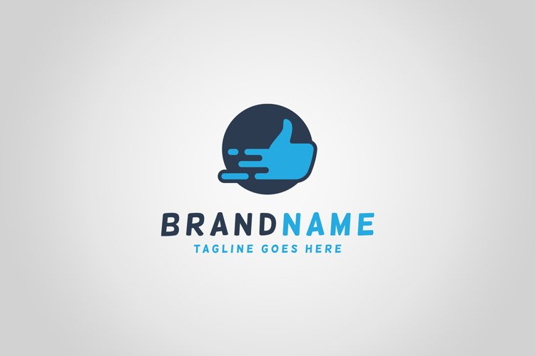 Speed Hand Logo Template example image 1