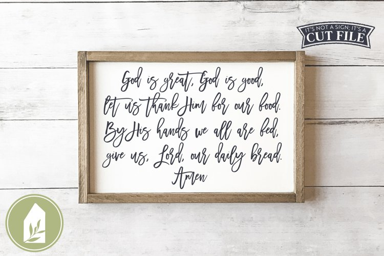 God Is Great God Is Good SVG, Prayer SVG, Christian SVG example image 1