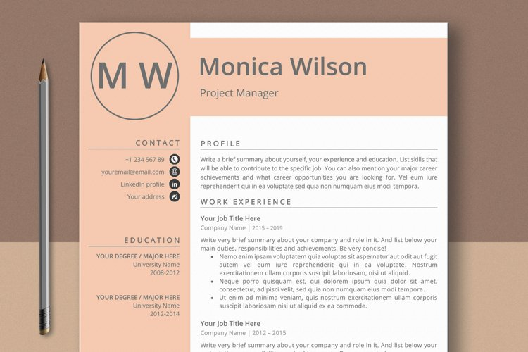 Minimalist CV Template for Ms Word example image 1
