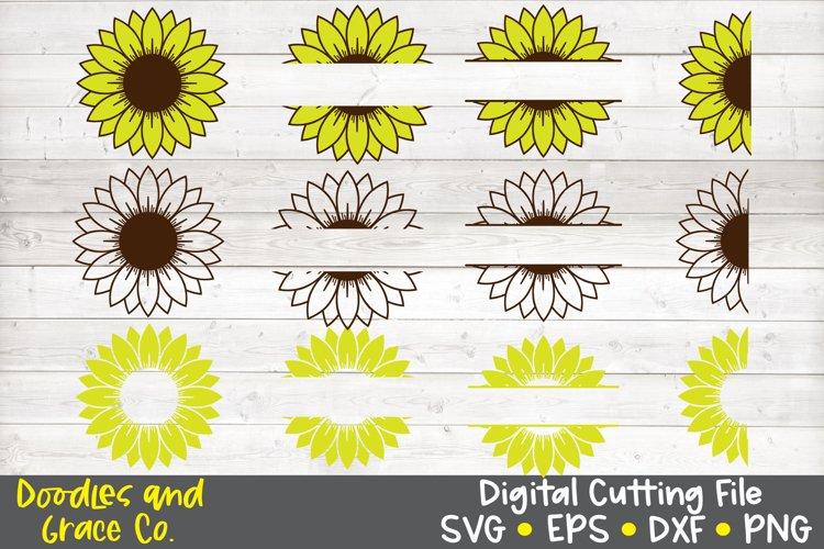 Sunflower Bundle SVG - DXF - EPS - PNG example image 1