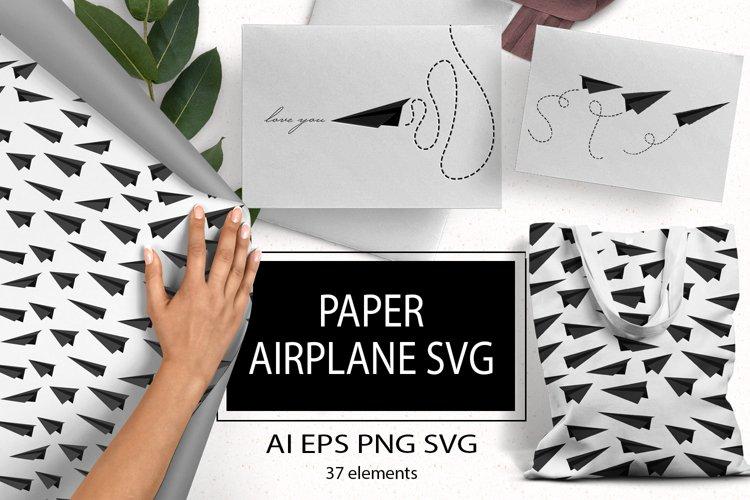 Paper airplane SVG