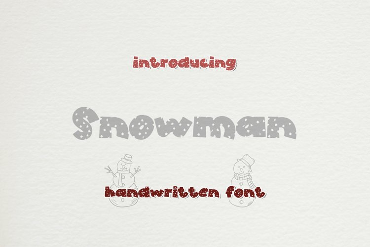 Snowman - A Snowy Handwritten Display Font example image 1