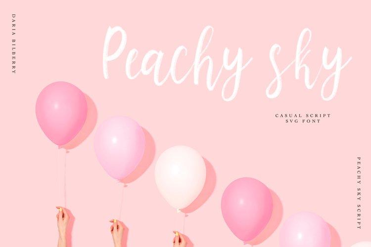 Peachy sky SVG casual script example image 1