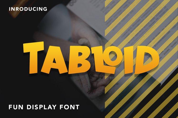 Tabloid - Fun Display Font example image 1