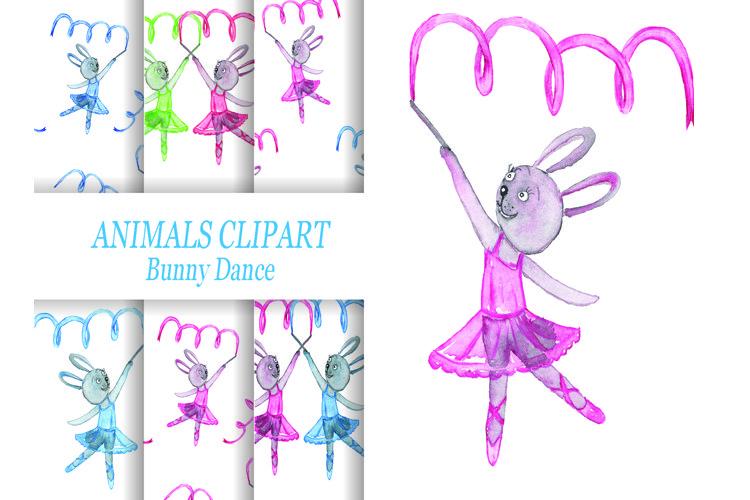 Animal clipart, Bunny clipart. Dance bunny. Ballet dance.
