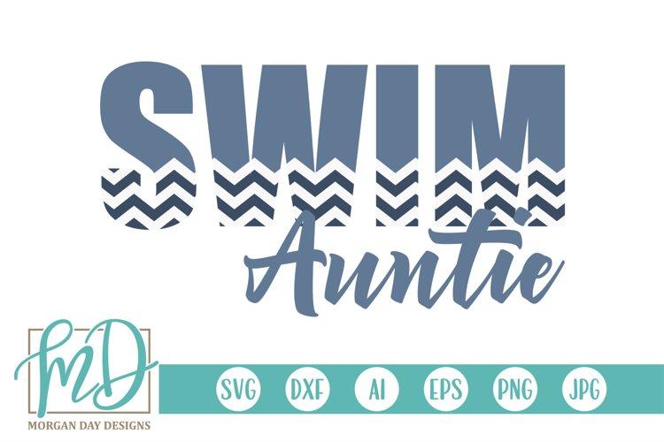 Swim - Swimming - Aunt - Proud Auntie - Swim Auntie SVG example image 1