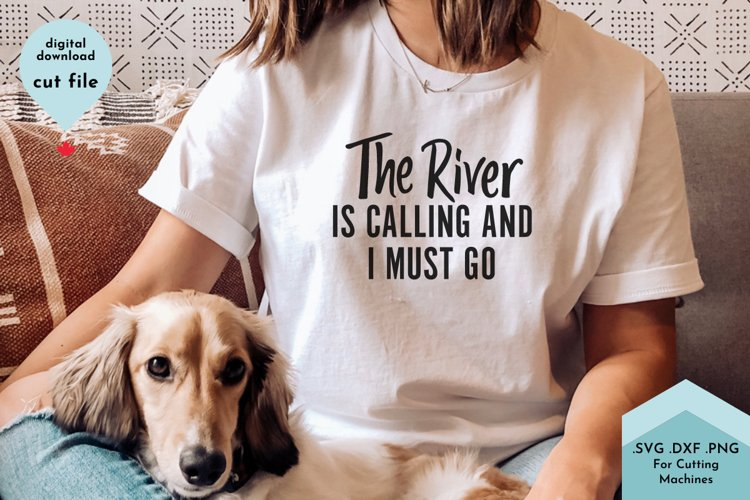 River SVG, Summer Shirt cut file example image 1
