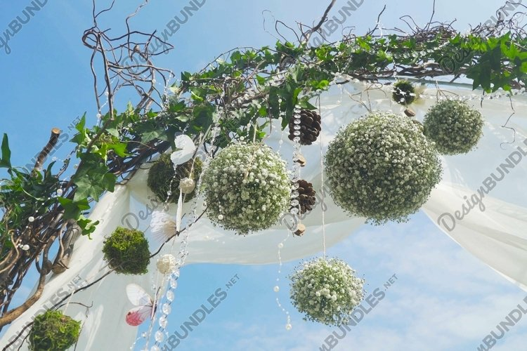 Wedding ceremony arch.