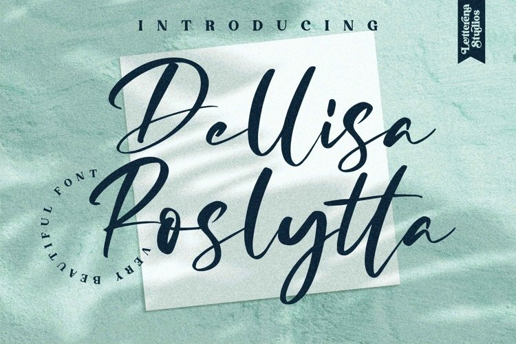 Dellisa Roslytta- Very BeautifulFont example image 1