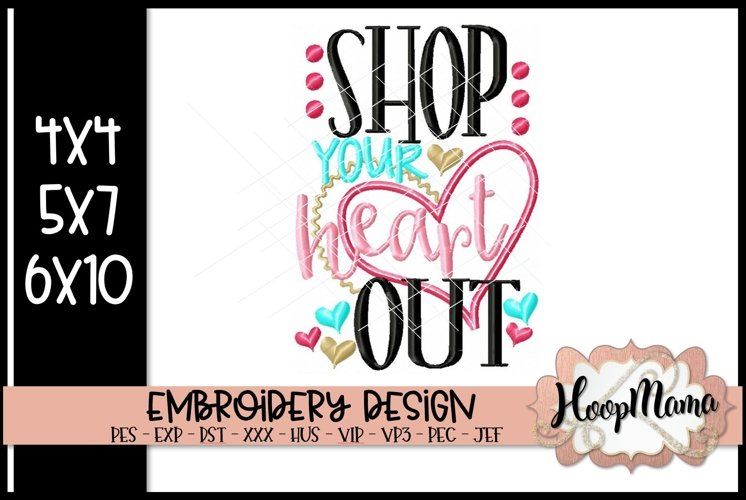 Shop Your Heart Out - Thanksgiving Embroi example image 1